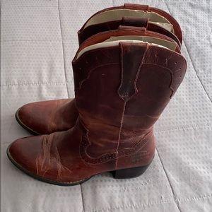 Harley Davidson Red Brown Cowboy Boots